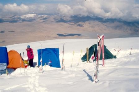 The camp on the altitude of 6200m