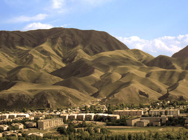 Naryn town is located on the biggest similar river of Kyrgyzstan