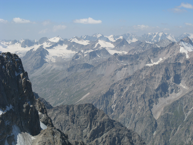 The panorama of Ala-Archa Region Summits