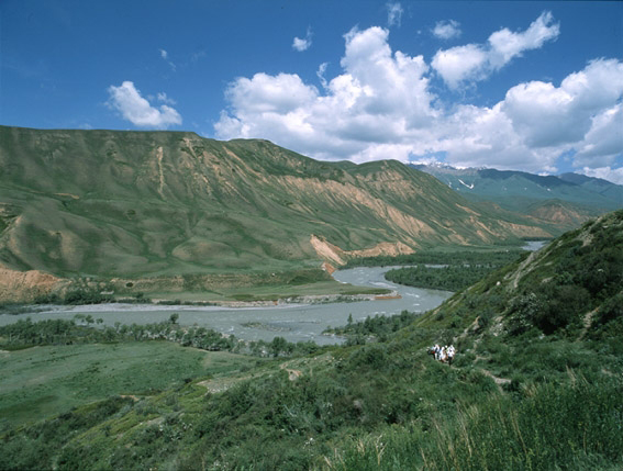 Small Naryn river