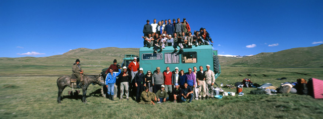 The Auto-safari tour participants