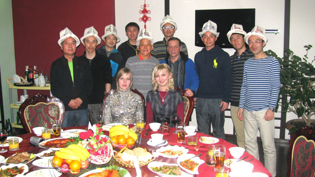 On the dinner for Challenge Eurasia marathon participants and Edelweiss representatives