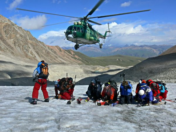 Summer Heliskiing Region for skiing – Inylchek Glacier